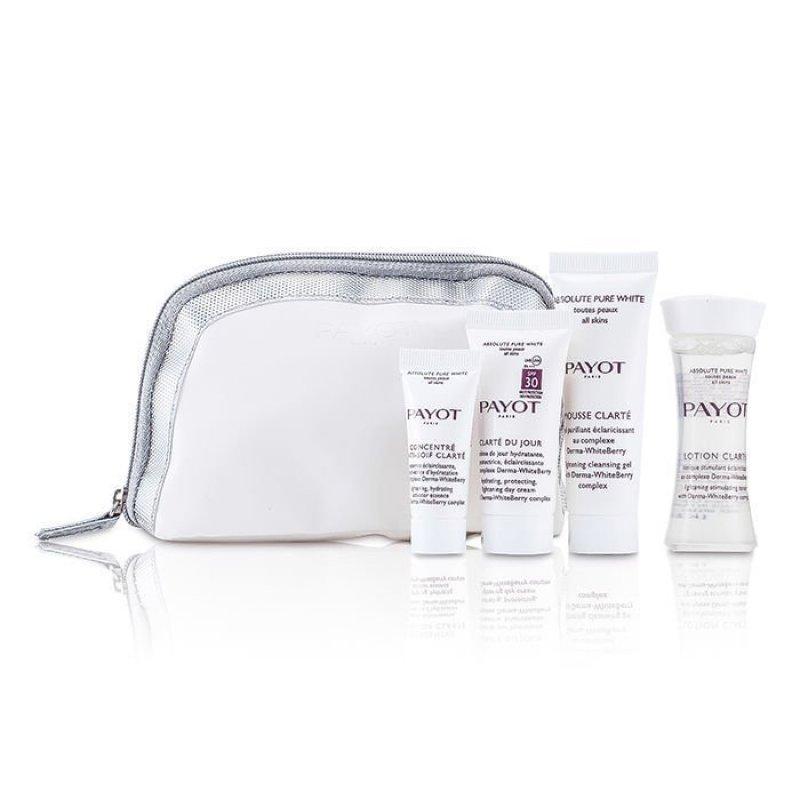 Buy Payot Absolute Pure White Kit: Lotion 30ml + Mousse Clarte 25ml + Clarte Du Jour 15ml + Concentre Anti-soif Clarte 10ml 4pcs Singapore