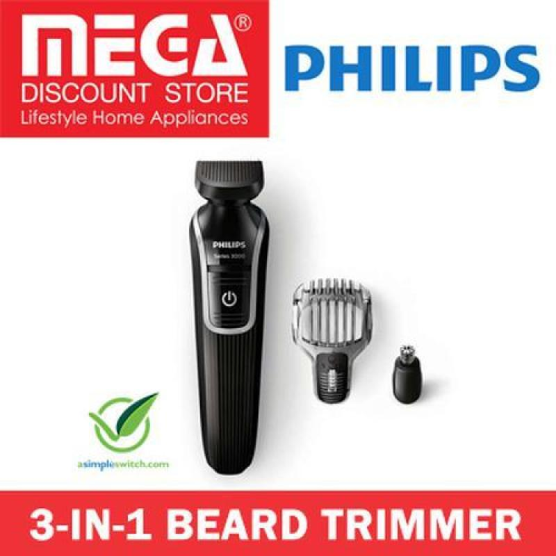 Buy Philips 3 In 1 Beard And Detailed Hair Trimmer Qg3320 / All Skin Friendly Singapore