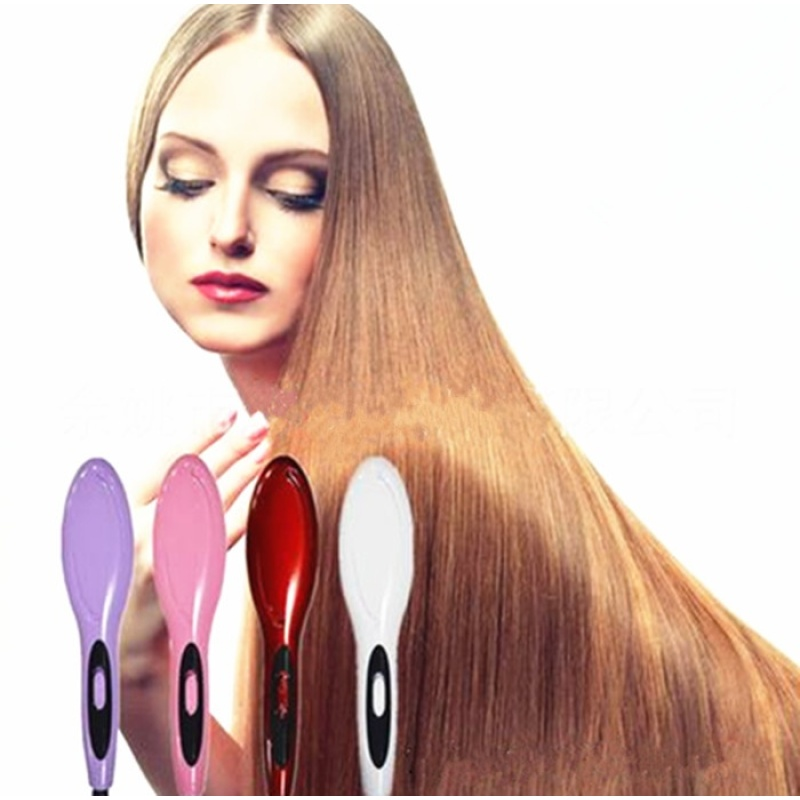 Buy Professional Electric Fast Straightening Irons Comb With LCD Display Straight Hair Styling Tool(Red) - intl Singapore