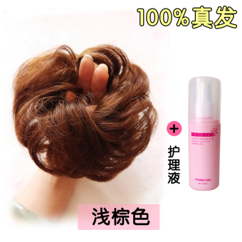 Harga Real Hair Ring Hair Bride Plate Made Head Flower Hair Rubber Band Fluffy Ball Head Big Bud Head Wig Bag Female