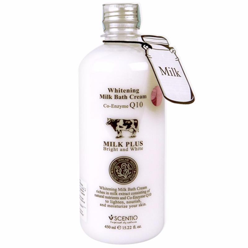 Buy SCENTIO Whitening Milk Bath Cream 450ml Singapore