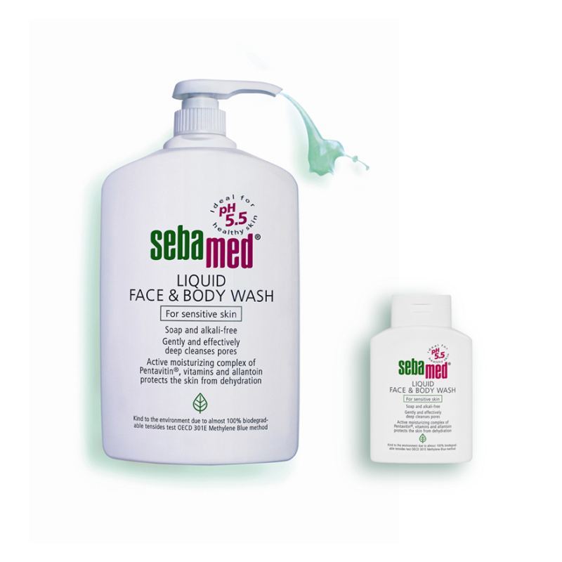 Buy Sebamed Liquid Face & Body Wash Promo Pack 1000ml 200ml Singapore