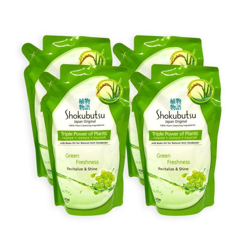 Buy Shokubutsu Green Freshness Revitalize and Shine Body Foam Refill 550g x 4 Packs - 8480 Singapore