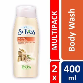 St Ives Oatmeal & Shea Butter Body Wash 400ml X 2