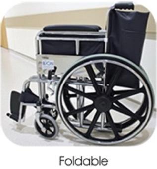 Standard Foldable Regular Chrome Wheelchair With Brakes AdjustableFoot Rest - 3