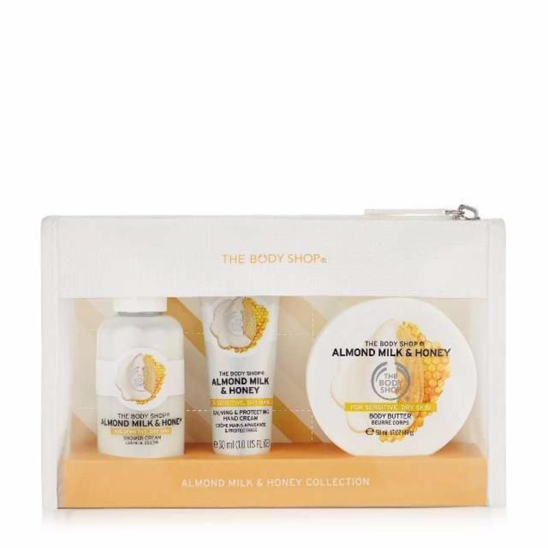Buy The Body Shop Almond Milk & Honey Beauty Bag Singapore