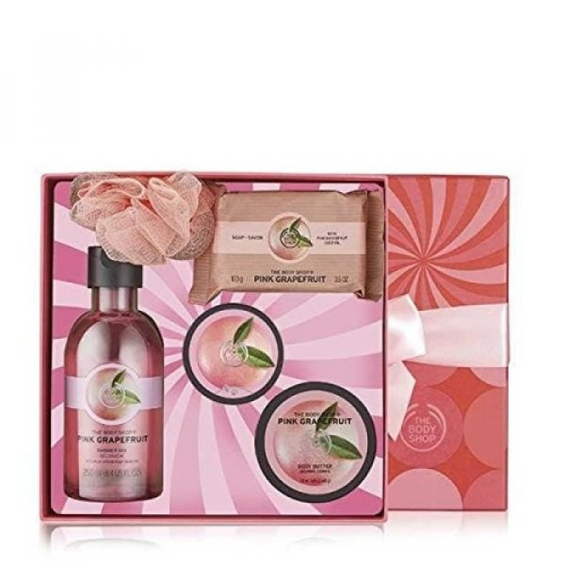 Buy The Body Shop Pink Grapefruit Festive Picks Gift Set, 5pc Bath and Body Gift Set - intl Singapore