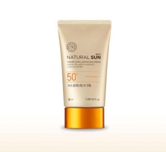 Harga The face shop NATURAL SUN eco POWER LONG-LASTING SUN CREAM SPF50+PA+++ 50ml
