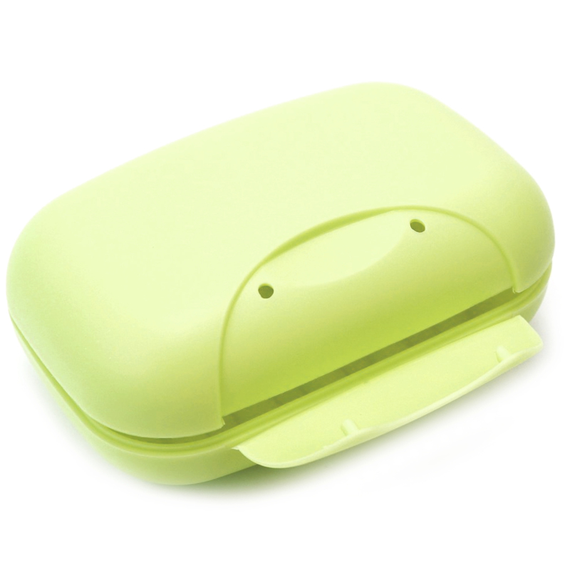Buy Travel Plastic Soap Box Dish Holder Container Storage Box With Lock Large Size Green Singapore