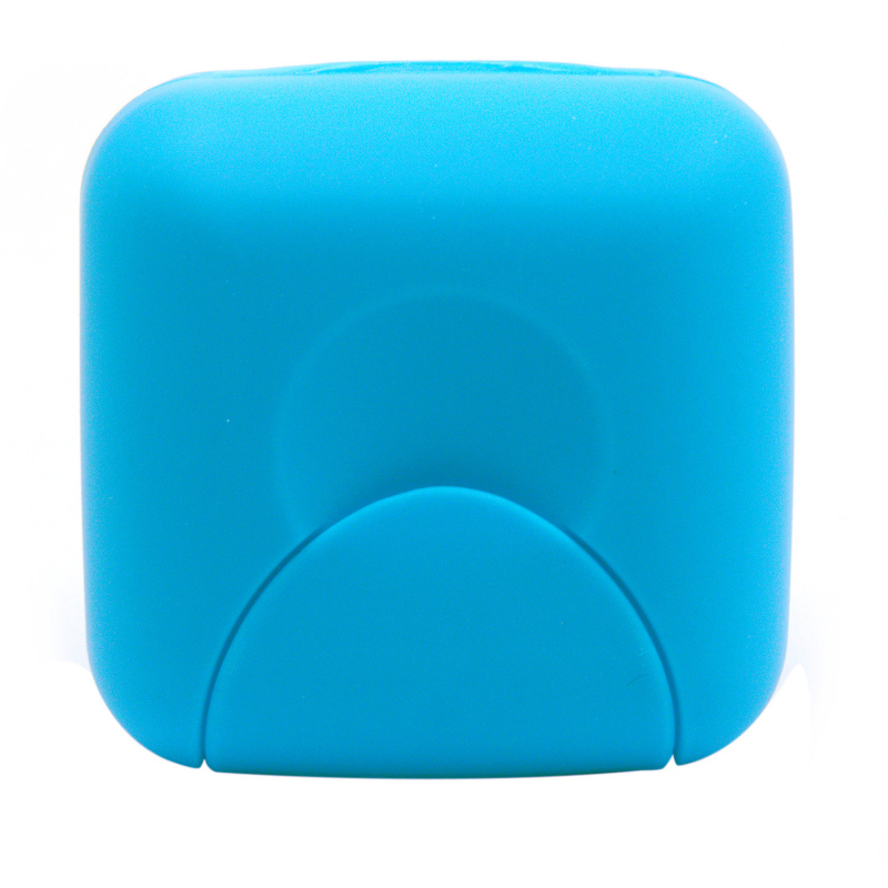 Buy Travel Plastic Soap Box Dish Holder Container Storage Box With Lock Small Size (Blue) Singapore