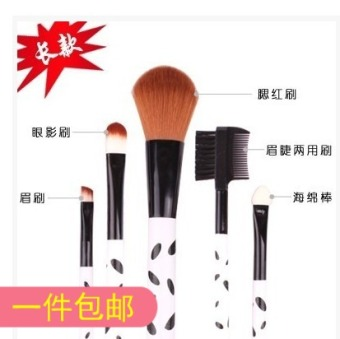 Us-Iraq Makeup Brush Five Pieces Set Blush Brush Eyebrow Eyelashes Brush Sponge Stick Eye Shadow Brush Eyebrow Brush Beauty Tools