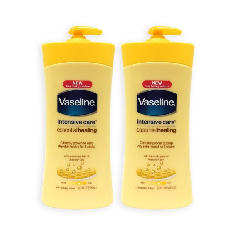 Buy Vaseline Intensive Care Essential Healing Lotion 600ml x 2 Bottles (USA) - 9004 Singapore