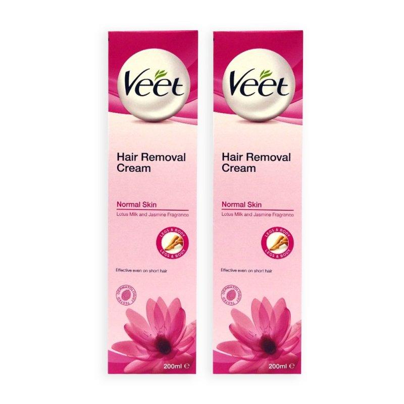 Buy Veet Hair Removal Cream for Normal Skin 200ml x 2 Tubes - 9880 Singapore