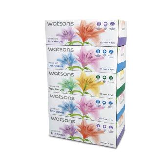 Watsons Box Tissues 3ply (5 X 100's)