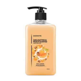 Watsons Shea Butter & Peach Hand Soap 500ml