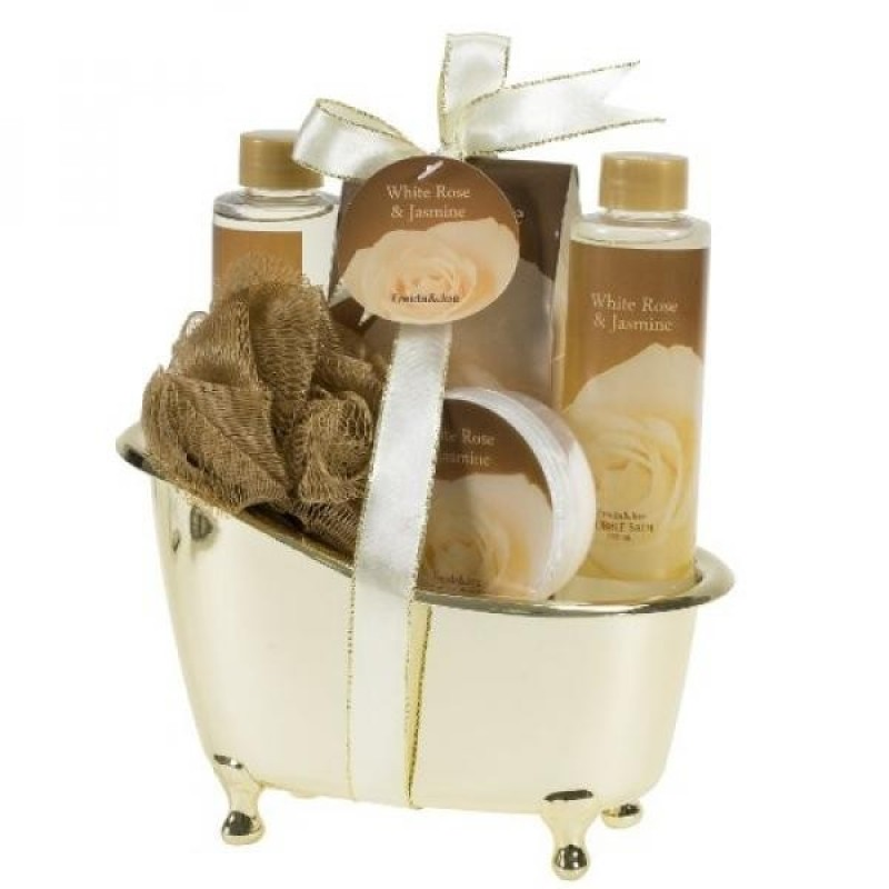 Buy White Rose Jasmine Gold Tub Spa Bath Gift Set - intl Singapore