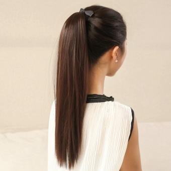 Harga Wig ponytail straight hair high temperature wire hair piece fakeponytail
