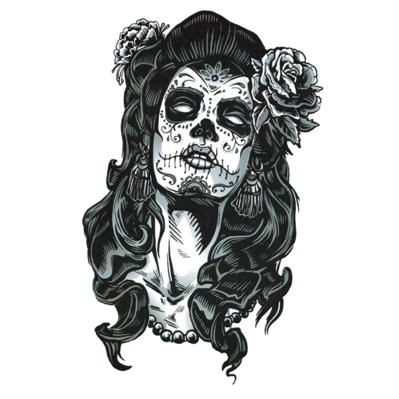 Buy Yika Removable Waterproof Skull Temporary Body Arm Tattoo Stickers (A073) Singapore