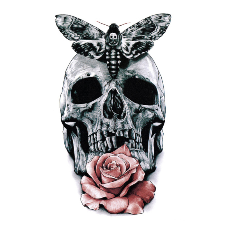 Buy Yika Removable Waterproof Skull Temporary Body Arm Tattoo Stickers (A074) Singapore