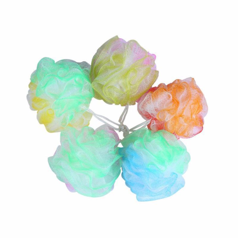 Buy YingWei 5pcs Big Bath Flower Children Bath Soft Ball Mesh Hole Body Cleaning Shower Bath Supplies(Mixed color) - intl Singapore