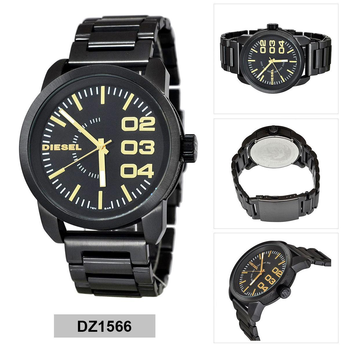 หนองคาย Authentic Diesel Black Stainless-Steel Case Stainless-Steel Bracelet Mens DZ1566 2 Years Warranty