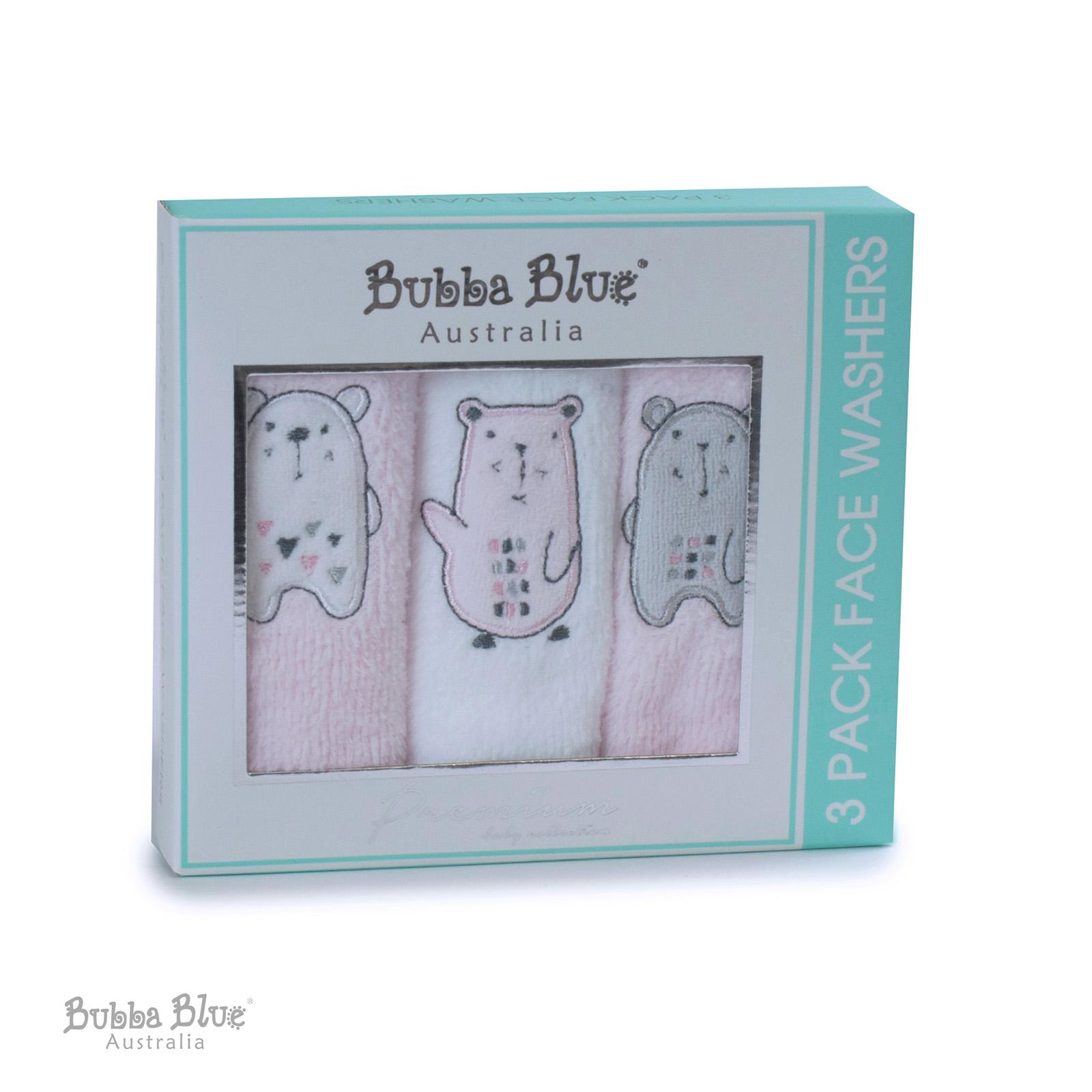 Bubba Blue Beary Sweet 3pc Facewasher