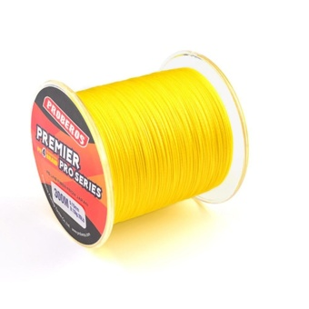 300M Fishing Line Pe Four Braids Fish Line Yellow 4.0 / 40LB - intl