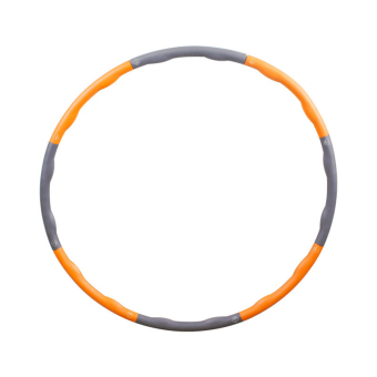 7 Parts Fitness Removable Foam Sponge Hula Hoop (Orange )