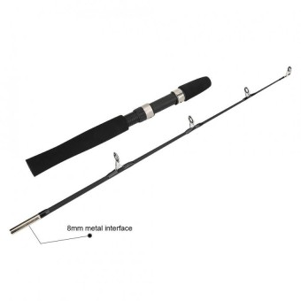 80cm Portable Durable Telescopic 4 Section Fishing Rod Pole Tackle Accessory(Black) - intl