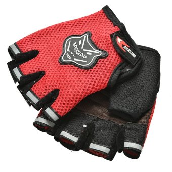 Amango Unisex Body Building Fitness Gloves Exercise Weight LiftingRed