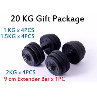 Black Color dumbbell combo (GIFT PACKAGE) - 20 KG combo