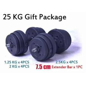 Black Color dumbbell combo (GIFT PACKAGE) - 25KG combo