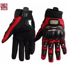 Finger Gloves Red Intl. 360dsc Pro Biker Mcs23 Outdoor Cycling Motorcycle Racing .