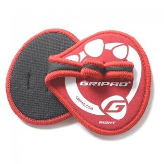 Gripad Weight Lifting Glove and Grip (Red)