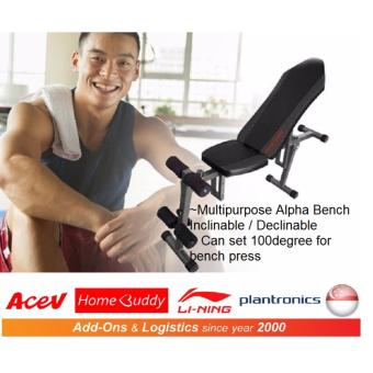 HomeBuddy Alpha Bench/Multipurpose Workout Bench/Fitness Bench