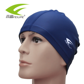 Harga Feipu spa swimming cap waterproof ear pu coating cap large swimming cap warm cap hat men and women long release