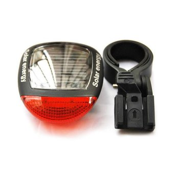Harga Solar Power Bicycle Bike Rear Tail Lamp Light Red