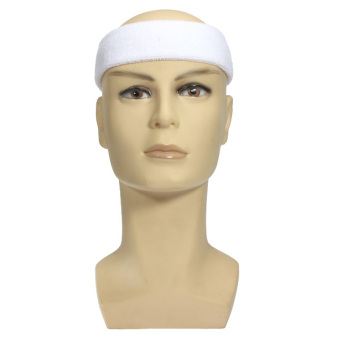 Cashmere Headband Sweatbands Sport Head Wrap for Rugby Tennis Soccer Golf Dancer (White)