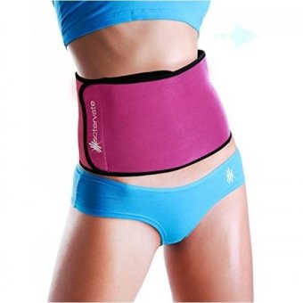 Harga Actervate - Pink Waist Trimmer Belt, Slimmer Belt and Sweat Belt for Women and Men - Best 3 in olutionulti Purpose Belly Burner Belt, Waist Belt, Back Support, Abs Workout, Aids in Slimming and Weight Loss Beltike a Mini Sauna Suit - intl