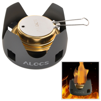 Harga ALOCS Portable Camping Alcohol Stove Spirit Burner Black + Gold