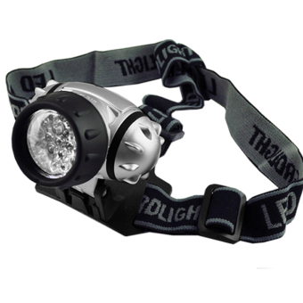 Harga Cyber 19 LED Head Lamp Camp Light Torch Headlight for Hiking Camping Riding