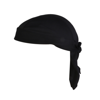 Harga Polyester Anti-UV Wrap Tie Bandana Hat Pirate Scarf for Riding Cycling Black