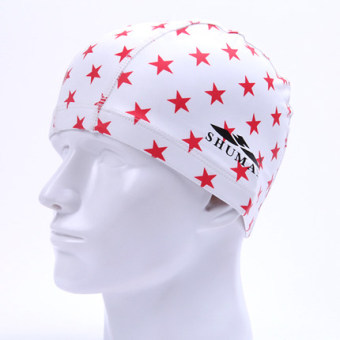 Harga Female waterproof hair swimming cap