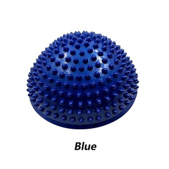 Harga 1pcs Ladies Half Yoga Balls Massage Point Fitness Ball Inflatable Exercises Trainer Gym Yoga Balancing Ball- Blue - intl
