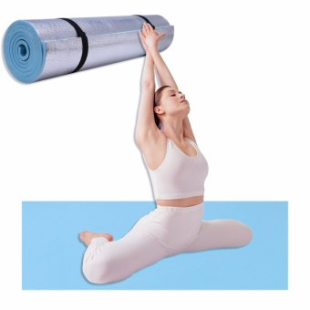 Harga 6mm Thick Durable EVA Yoga Mat Exercise Gym Fitness Workout Non-Slip Pad Camping(Blue) - intl