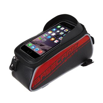 Harga Basecamp Cycling Bike Bicycle Frame Pannier Front Tube Pouch Bag Mobile Phone Holder Red - intl