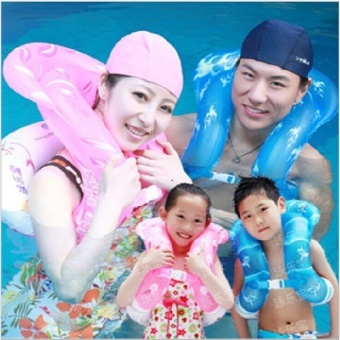 Swimming le Bao three generations of children child inflatable swim ring armpit ring adult life-saving ring swimming supplies Grant