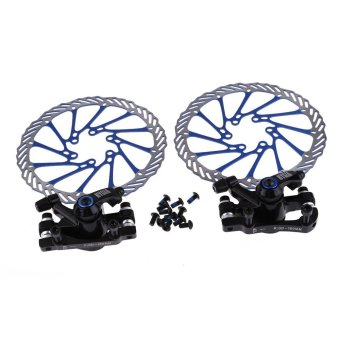 Harga NV5 Bicycle Bike Black Disc Brake System Blue Rotors 160mm Set w/ Bolts