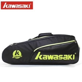 Harga Kawasaki badminton racket bag Kawasaki badminton bag six only loaded shot bag for men and women shoe shoulder backpack