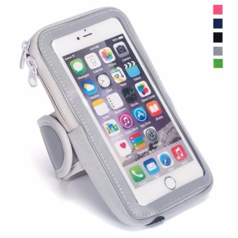 Harga Multifunctional Outdoor Sports Armband Casual Arm Package Bag Cell Phone Bag Key Holder For iphone7Plus 6Plus 6sPlus Samsung Galaxy Note 5 4 3 Note Edge S5 S6 S7 S8 Edge Plus Grey - intl